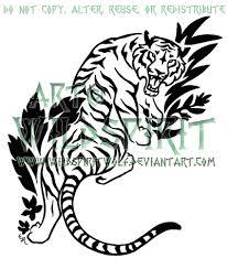 jungle tiger tattoo by wildspiritwolf on deviantart