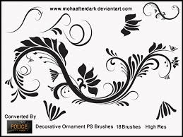 decorative ornament decorative photoshop brushes brushlovers