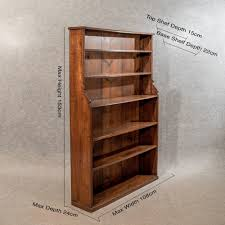 Narrow Depth Bookcase by Antique Oak 5 U0027 Waterfall Open Bookcase Display Shelves Quality
