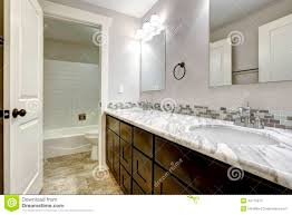 Granite Bathroom Vanity by Bathroom Vanity Cabinet With White Granite Top Stock Photo Image