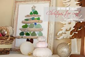 sea glass and driftwood christmas craft
