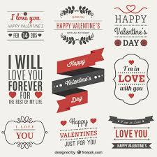 valentines day label set vector free download
