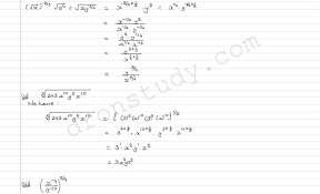 chapter notes exponents of real numbers class 9 maths