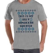 happy hanukkah sweater hanukkah sweater men s sweater grey t shirt