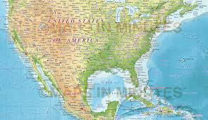 World Map United States by Digital Vector Political World Map With Relief Terrain For Land