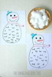 98 best winter sight word plans images on pinterest site words