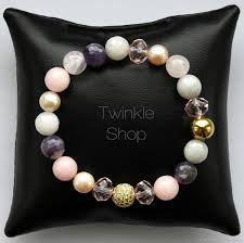 buy bracelet agate pearls quartz and amethyst on livemaster