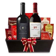 wine and gift baskets send a napa valley california wine gift basket free shipping