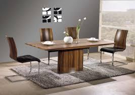 Vida Living Exclusive Messina Walnut Dining Table And  Messina - Walnut dining room chairs