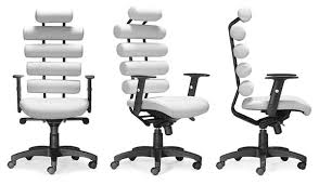 White Modern Desk Chair Zuo Modern Unico Office Chair