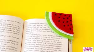 diy watermelon bookmark crafts for kids youtube