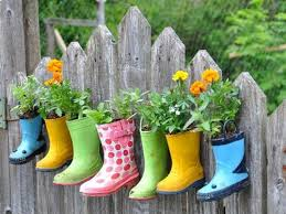 Flower Ideas Flower Garden Ideas Love This And Have Several Boots The Kids