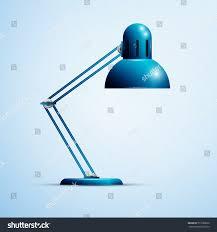 Small Blue Desk Lamp Blue Desk Lamp Stock Vector 577280620 Shutterstock
