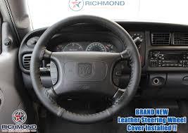 dodge ram sport wheels 1998 2002 dodge ram 3500 black leather steering wheel cover w