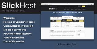 slickhost hosting u0026 corporate wordpress theme technology