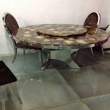 marble and stainless steel dining table new design c233 marble round stainless steel dining table global
