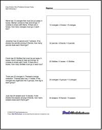division word problems 4th grade printable laurenjohnson