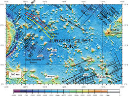Map Of Pacific Ocean Jurassic Magnetic Research 1992 Survey