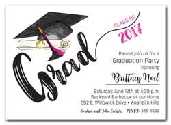 grad invitations graduation party invitations high school college graduation