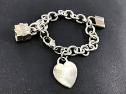 tiffany silver bracelet with heart images Tiffany co sterling silver heart tag bracelet with lock gift jpg