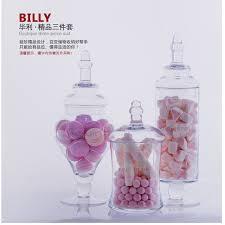Mason Jar Wedding Decorations Aliexpress Com Buy 3 Set Transparent Lid Storage Bottle Glass