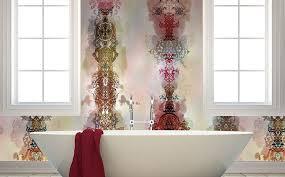 tapeten badezimmer wohnideen wandgestaltung maler wandgestaltung mit designer tapeten