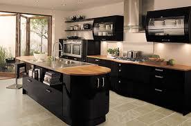 Black Gloss Kitchen Cabinets Avant Black Contemporary Gloss Kitchen Pretty Black Kitchens