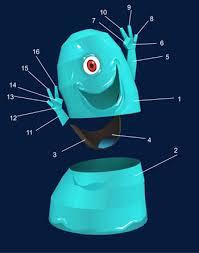 bob monsters aliens papercraft