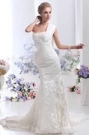 one shoulder wedding dresses trumpet mermaid one shoulder court lace wedding dress cwwt13001