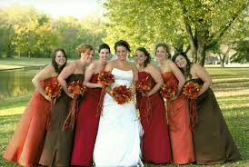 fall bridesmaid dresses wedding dresses ideas the right style of fall wedding