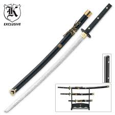 3 piece samurai full tang sword set budk com knives u0026 swords