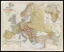 Map Of Europe 1919 by Section Three Newsmaps Osher Map Library