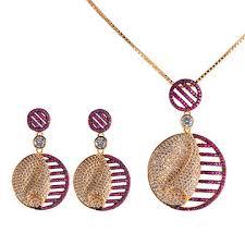 fashion necklace wholesale images China jewelry set 2017 latest design popular 18k gold fashion jpg