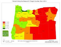 oregon county map oregon measure 91 approval rates by county learning lessons for