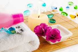 Blumen Bade Alle Für Entspannung Im Bad Blumen Handtuch Gel Kerze Etc