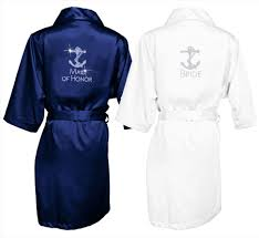 nautical wedding party this anchor rhinestone bridal party robe makes for a great gift