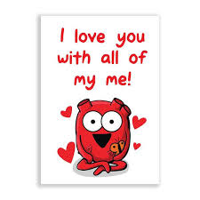 i you with all of my me greeting card the awkward