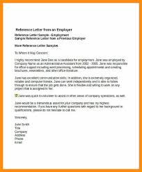 doc 600750 sample of reference letter from employer u2013 sample