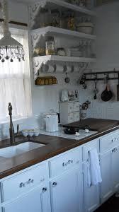 Shabby Chic Kitchen 80 elegant white shabby chic kitchen wall shelves kitchen wall