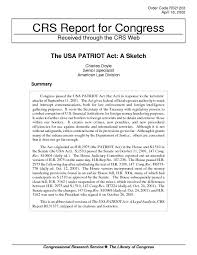 the usa patriot act a sketch digital library