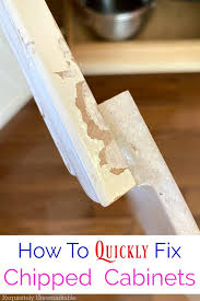 how to quickly paint cabinets how to touch up chipped cabinets with a paint pen