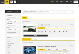 website and application for car rental company rentacar100