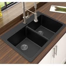 33 x 22 drop in kitchen sink winpro granite quartz 33 x 22 double bowl drop in kitchen sink