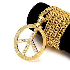 hip necklace chain images Fashion high quality hiphop accessories letter necklace rock peace jpg
