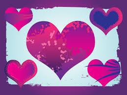 different color purples purple grunge hearts