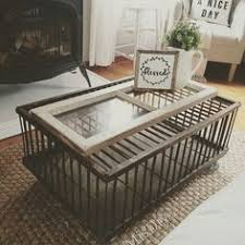 Shipping Crate Coffee Table - vintage w j carpenter co of brightwood virginia wooden oak