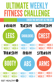 Challenge How Do U Do It Ultimate Weekly Fitness Challenge Workout Calendar Routine And