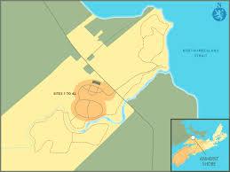 amherst map find a site amherst shore provincial park scotia