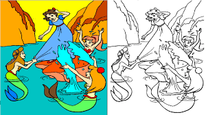 peter pan coloring pages coloring videos for kids youtube