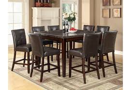 103777 coaster counter height table marble top dining set